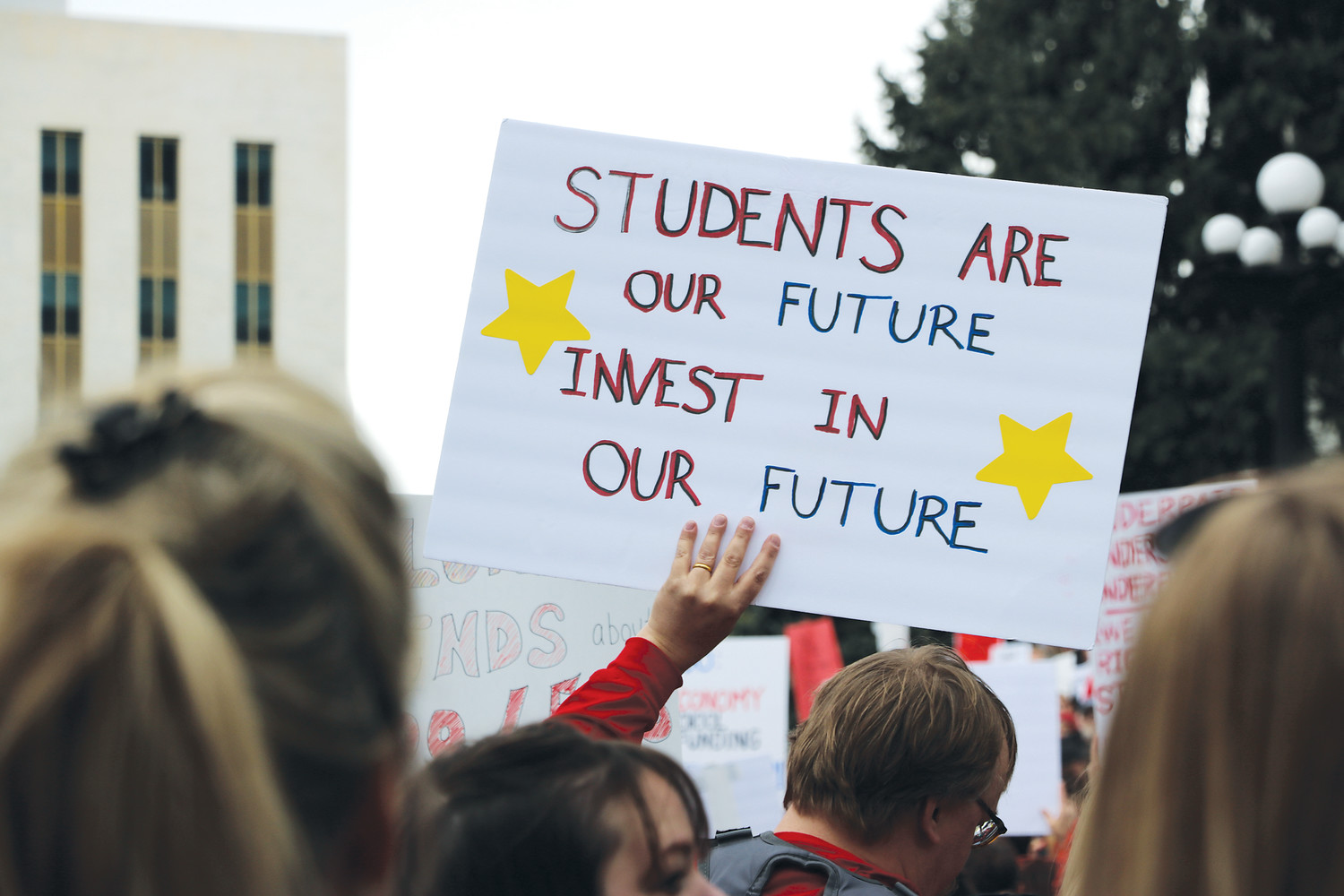 Thousands of teachers in Arizona, Colorado protesting wages, school funding