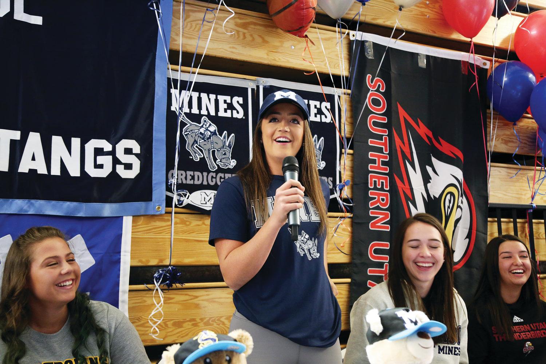 Abriana Trujillo will play softball at Colorado School of Mines next year.
