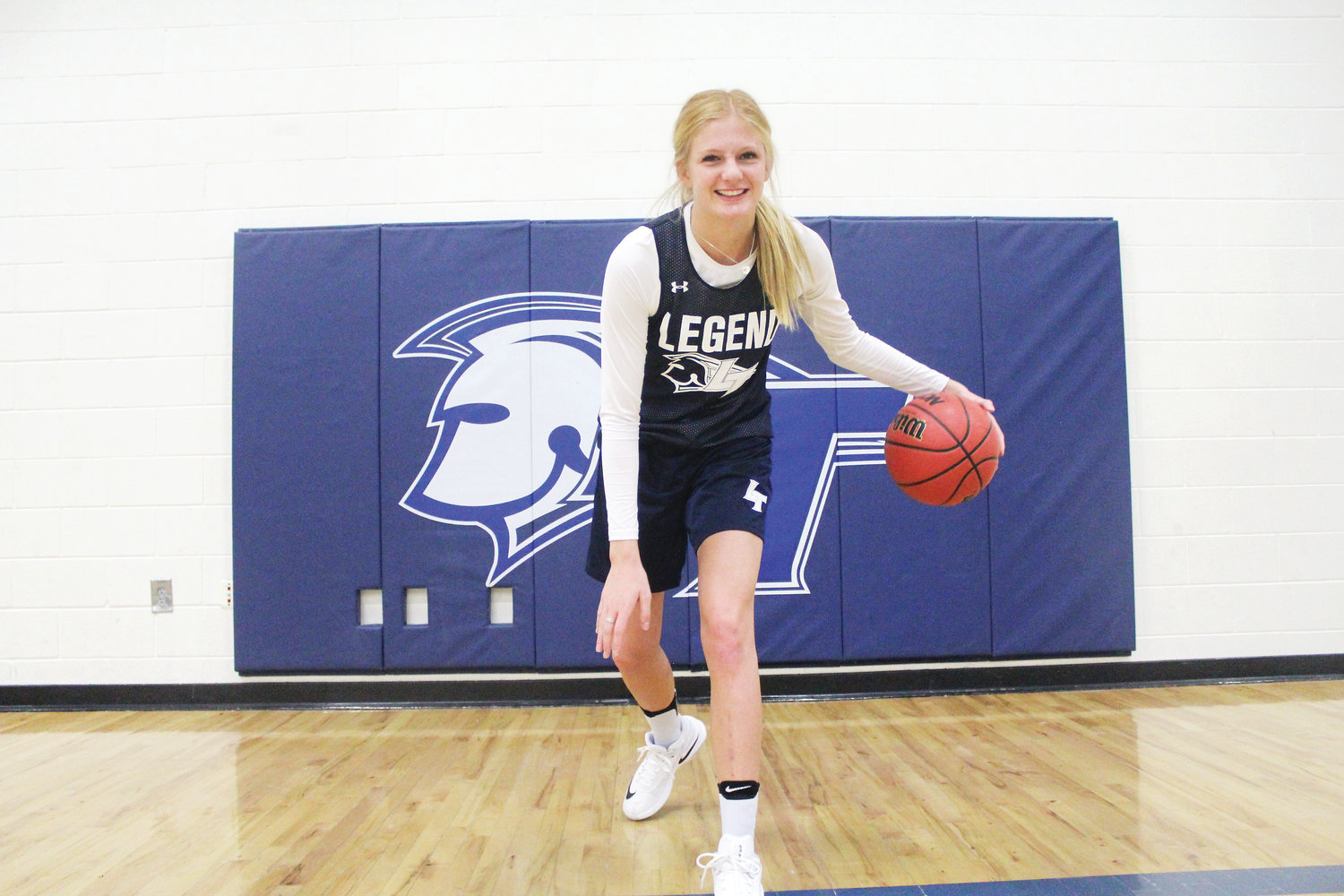 Elle Bevis, senior forward at Legend High School, leads the 9-1 Titans in points (12.8 points per game).