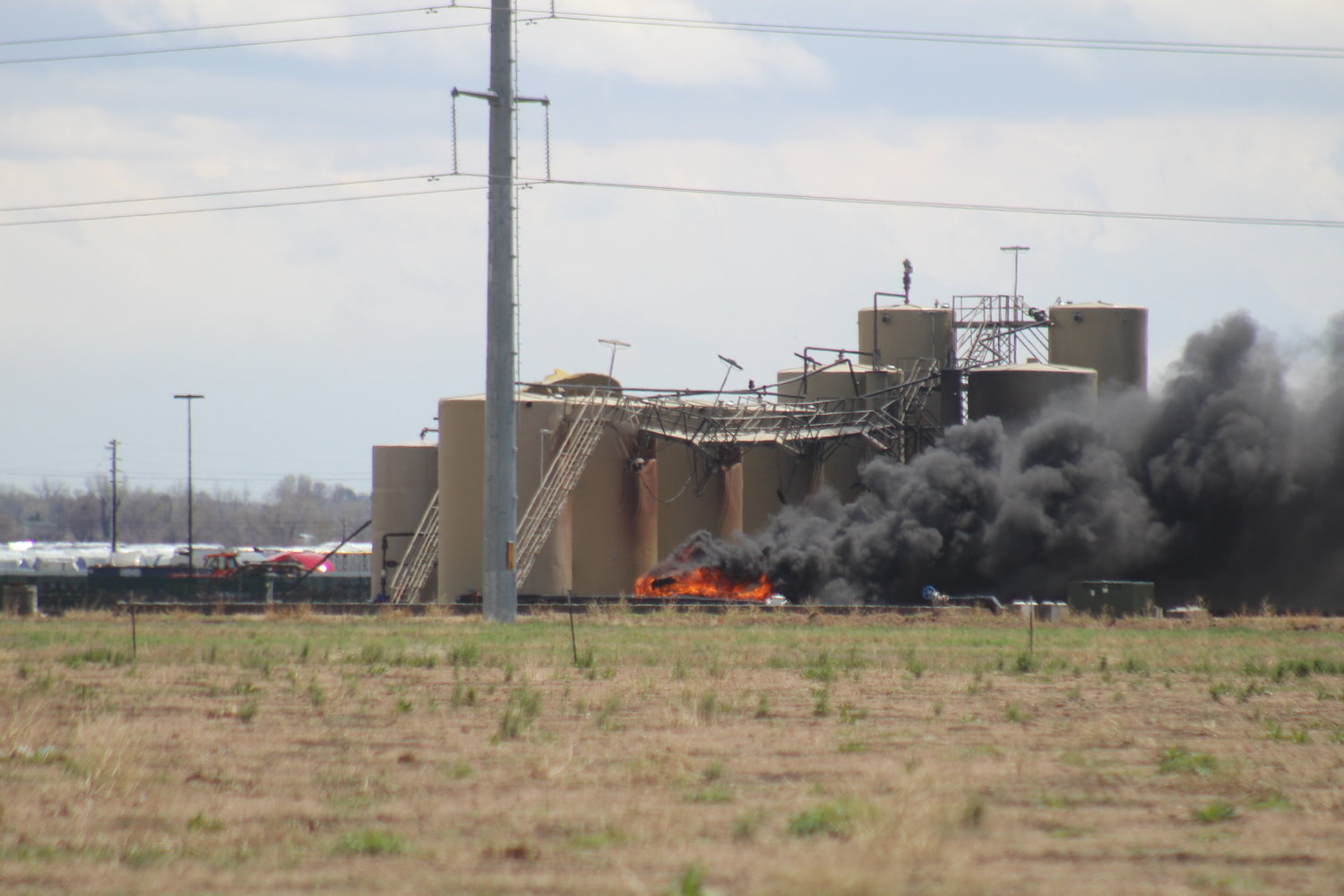 Lightning is the initial; cause of a May 5 tanker fire near U.S. Highway 85 and Weld County Road 6.