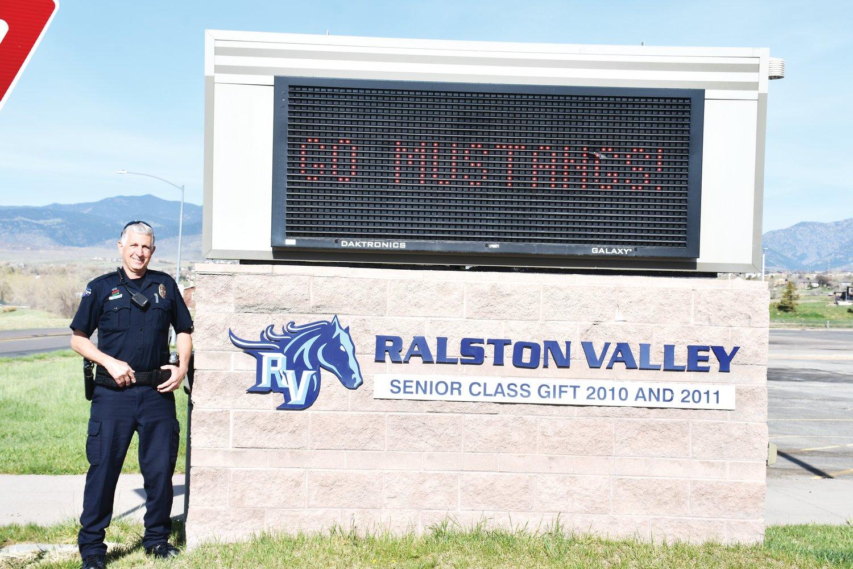 School Resource Officer John Zubrinic at Ralston Valley High School.