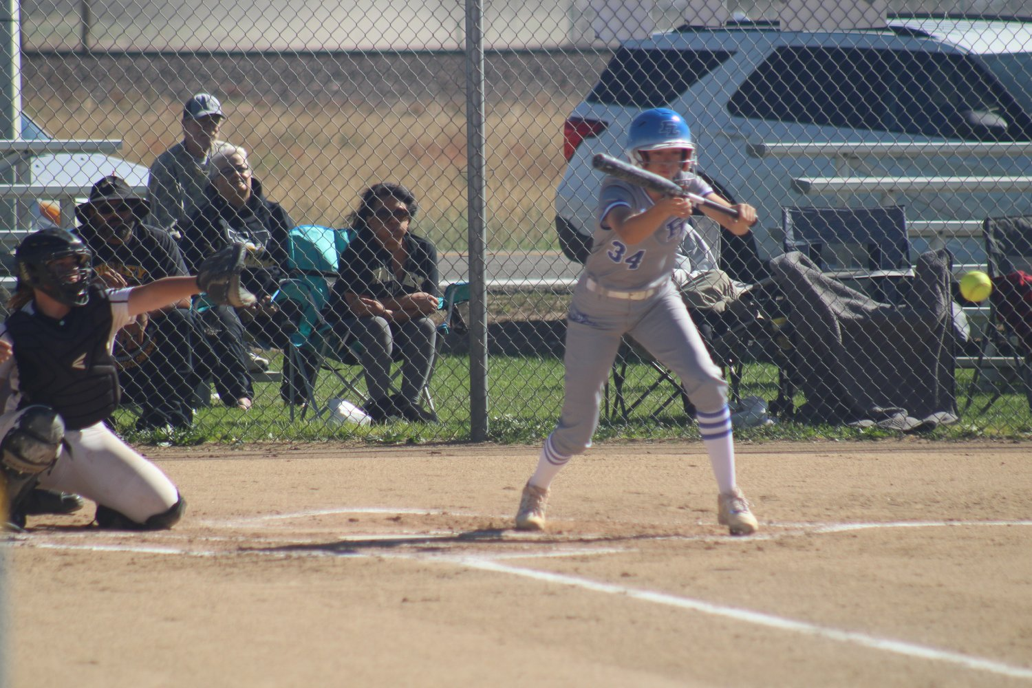 Fort Lupton's Taylor Fells lays down a bunt during the second inning of her team's regular-season finale against Valley High School Oct. 8 in Fort Lupton.