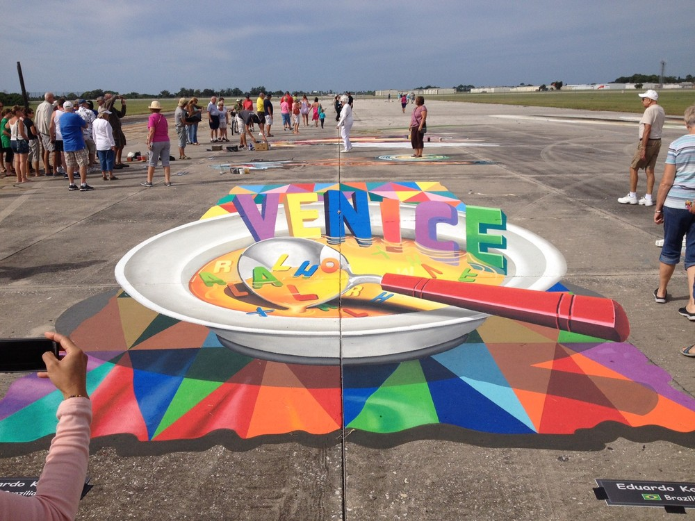 Wanda Shults visits the 2015 Chalk Festival, Venice, Florida