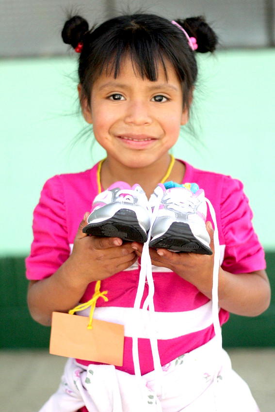 SHOES for Orphan Souls is preparing to start its annual campaign in the Cleveland and Bradley County campaign. Each year, Buckner International Ministries conducts the drive in communities across America. It is led locally by a group of individual volunteers and churches. This little girl is one of the program's many recipients.