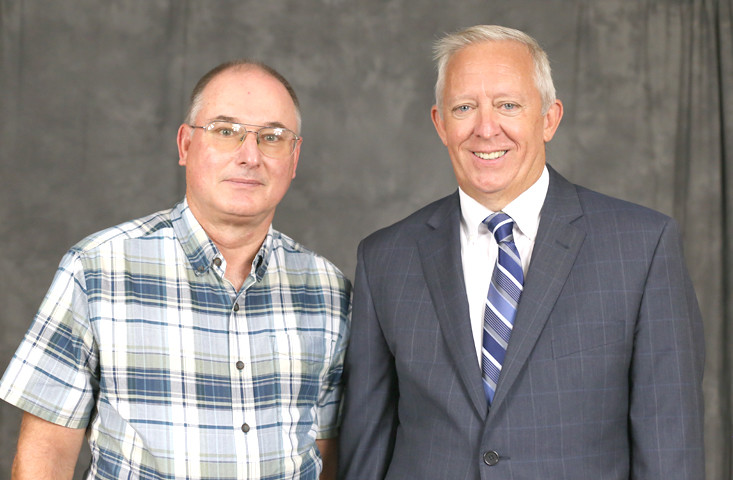 BRADLEY COUNTY Farm Bureau President Chuck McSpadden recently attended the first-ever Tennessee Farm Bureau County Presidents Leadership Investment meeting in Columbia, and met with Tennessee Farm Bureau President Jeff Aiken.