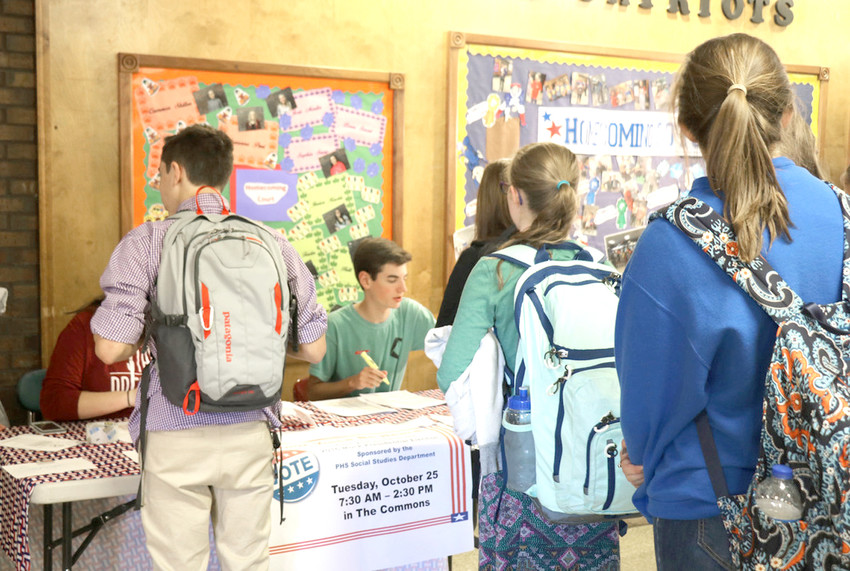 Tennessee's inaugural Student Mock Election, with participating students seen here, was first introduced during the 2016 presidential election. The student-side balloting drew participation from 165,968 students and 479 schools across the state.