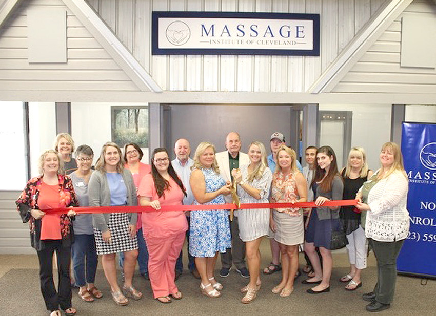 A RIBBON-CUTTING ceremony was held recently at the Massage Institute of Cleveland, located at 201 Keith St. S.W., Suite 56. Formerly the East Tennessee School of Massage Therapy, Director Lela Maddux and Tabitha Payne assumed management of the facility in May of 2018. Students from all backgrounds, and varying education levels, enroll in pursuit of changing or starting career paths, and continuing their expertise in the health and services field. The Massage Institute offers an intensive 28-week program, which emphasizes a career-facilitated curriculum. For more information, contact Maddux (owner-director) at 423-559-0380, or go online to www.massageinstituteofcleveland.org.