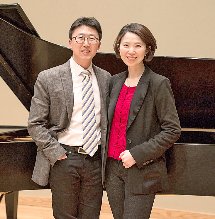 Dr. Joong Han (Jonathan) Jung, assistant professor of piano, and Dr. Joohae Kim, piano instructor, will present a recital on Tuesday.