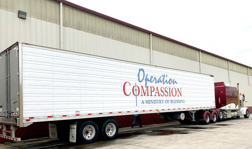 OPERATION COMPASSION will soon be shipping relief supplies to the Florida Panhandle as soon as Thursday morning in relief from Hurricane Michael, now a tropical storm. The faith-based organization most recently shipped supplies to the Carolinas in several trucks such as the one shown above in response to Hurricane Florence.