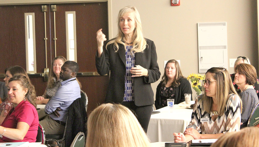 """BODY LANGUAGE expert Donna Van Atten tells attendees during a Women's Council event held Wednesday at the Cleveland/Bradley Chamber of Commerce that """"humans are visual creatures"""" and that our """"nonverbals scream so much information."""""""
