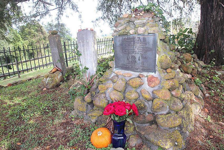 FLOWERS and mementos adorn the gravesite of Nancy Ward, a Cherokee woman who became influential in relations between the Cherokee people in settlers in the region. The gravesite is located in Polk County.
