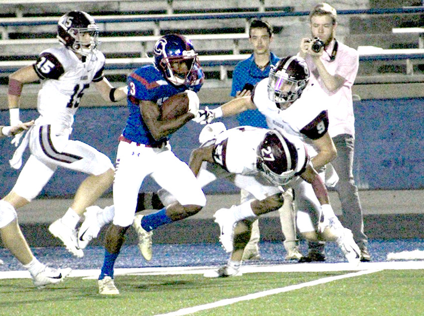 CLEVELAND JUNIOR running back Jeffrey Perez has 462 total yards and five total touchdowns this season. Perez and the Blue Raiders will travel for a Region 2-6A showdown with the Ooltewah Owls Friday night at 7:30 p.m.