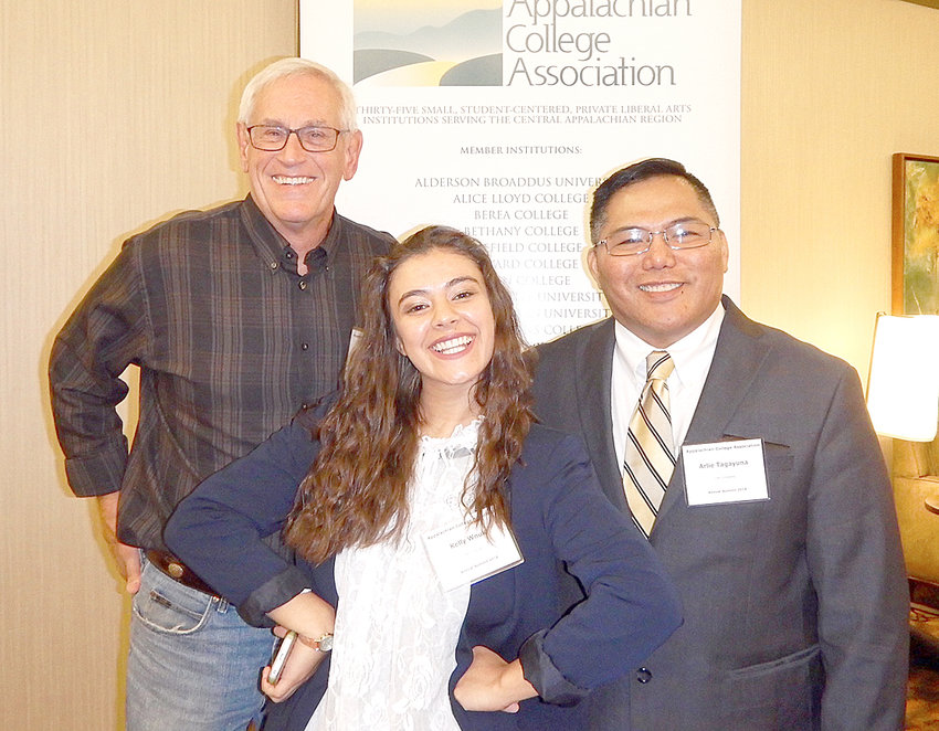 Dr. Murl Dirksen, left, Kelly Wnuk, and Dr. Arlie Tagayuna pose at the Appalachian College Association Annual Summit.
