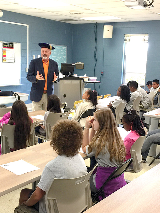 """Fifth-grade students from Blythe Bower and Oak Grove Elementary Schools participated in Cleveland State's """"College is for Me"""" on the CSCC campus on Friday. Dr. Bill Seymour, Cleveland State president, welcomed the group to campus."""