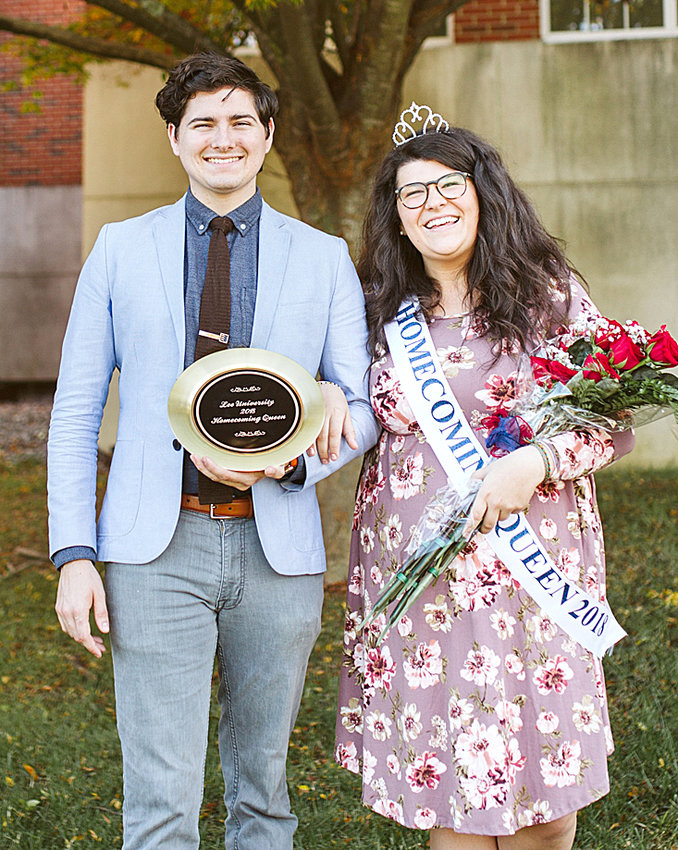 Emily Gates, 2018 Homecoming Queen, is shown here with her escort, Chris Absher.