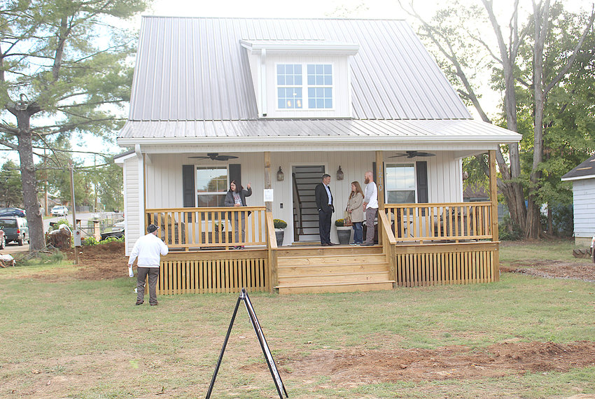A NEW HOUSE built by community development organization City Fields was unveiled during a recent open house. The house, located in the historic Blythe-Oldfield neighborhood, was sold within days of completion.
