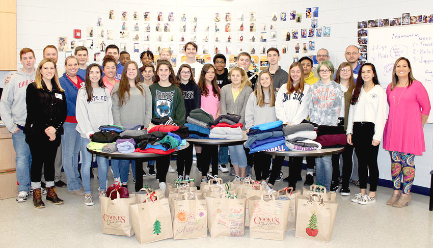 CLEVELAND HIGH SCHOOL freshmen who are part of Cleveland State Community College's Tennessee Valley Early College program recently completed a service project to help the homeless. They cleaned part of the Cleveland/Bradley County Greenway and collected items for the Wesley Memorial United Methodist Church Cold Weather Shelter.