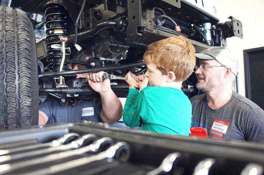 HURST Jeepster Commandowas built by pediatric cancer patients. It  raised over $150,000 at auction to benefit Austin Hatcher Foundation.