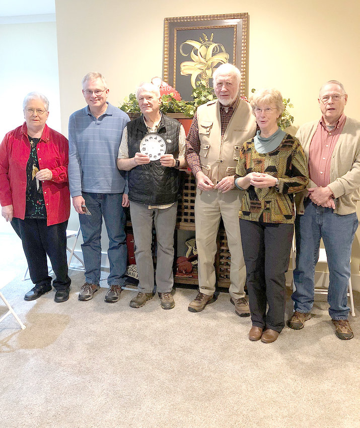 The annual Christmas party for the Cherokee Hiking Club was held at the home of James and Phyllis Anderson on Dec. 9.  Installation of officers for 2019 was  conducted by Jennifer Schroll.  New officers, from left, are Ann Gray, publicist; Randy Morris, treasurer; Rick Harris, webmaster; Leon Bates, vice president;  Sue Robinson, secretary; and Jack Callahan, president.   Following a buffet meal, a dirty Santa gift exchange was enjoyed by all.  Annual membership in the  club is $15 per family, and members receive a monthly email newsletter with current hike information.  The club offers both short and long hikes, as well as canoeing,  backpacking and camping trips.  Next year there is a camping trip planned for Big South Fork, as well as a backpacking trip in Wyoming.  For more information, check out the website www.cherokeehikingclub.org, or contact Ann Gray at 423-240-8863.
