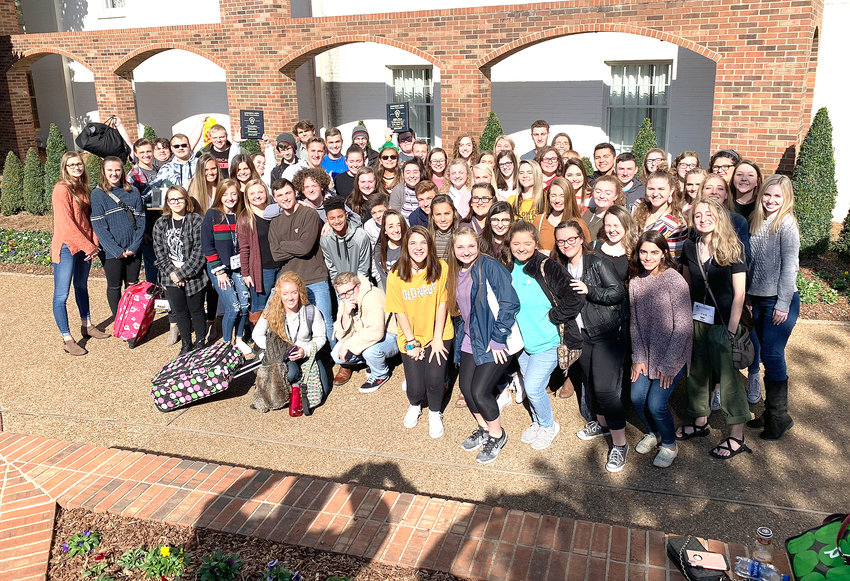 All of the BCHS students who attended Beta Nashville gather for a group photo.