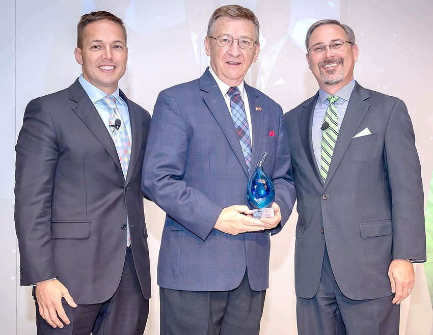 """STATE REP. DAN HOWELL, a Georgetown Republican representing the 22nd Legislative District, has been named """"Legislator of the Year"""" by the Foundation for Government Accountability. From left are Tarren Bragdon, FGA president and CEO; Howell; and Tom Newell, FGA Government Affairs director."""