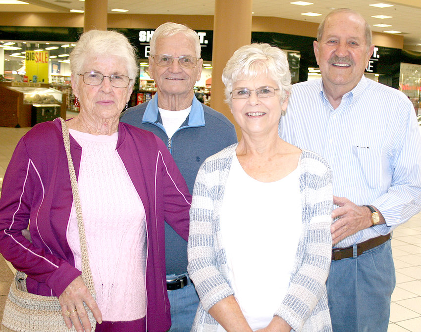 """THIS GROUP of """"mall walkers"""" want to continue with their healthy lifestyle, and some say to eat better. From left are: Dot Stephens; Levi Stephens; Linda Perry; and Taylor Perry."""