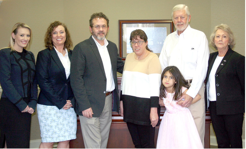 THE FAMILY of the late MaKlain Lawson, in partnership with the Community Foundation of Cleveland and Bradley County, has announced the start of the application process for the inaugural MaKlain Lawson Memorial Scholarship. From left are family members MaKenzie Dale, Tracy Lawson, Tim Lawson, Nicole Lawson, Whitley Grace Lawson, Charles Lawson and Myrtle Lawson. The scholarship's namesake was a 2015 graduate of Bradley Central High School who died in early 2018.