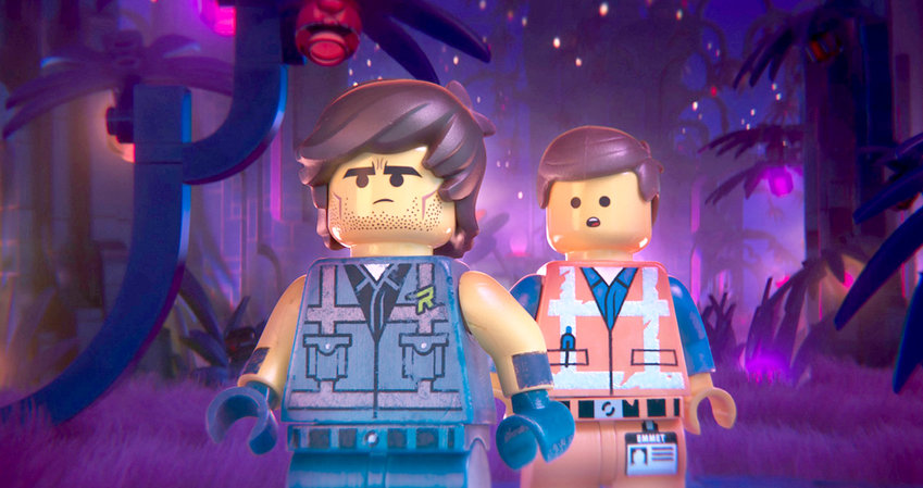 """CHRIS PRATT voices two different characters in the new film, """"Lego Movie 2: The Second Part."""" Not only does Pratt return as the lovable, upbeat Emmet (right) he also voices Rex Dangervest, left, who serves as a raptor trainer, archeologist and intergalactic outlaw."""