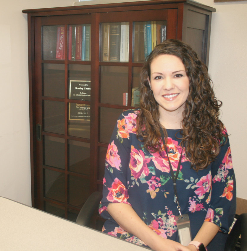 BRITTANY HOPKINS, a native of Tellico Plains, is the new director of the Bradley County Health Department. Hopkins has worked in a variety of public health occupations, and is excited to learn all of the programs in Bradley County so she can better serve her community.