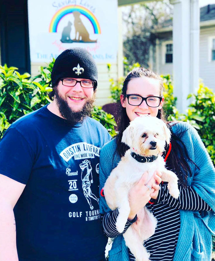 Tyler Farley and Gabriella Van Horne visited Henry, a Maltese, at The Ark of Cleveland. They gave the lifelong decision to adopt careful consideration and returned next day. The couple adopted Henry after reviewing his records of vetting.