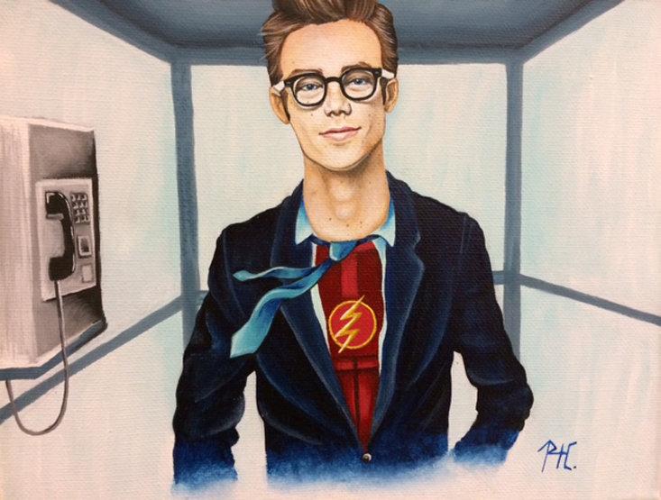 """Flash,"" by Rachel Cobb, is from a previous High School Art Exhibit."