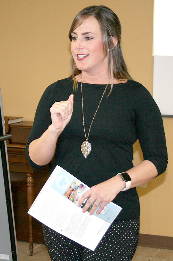 JENNIFER HENNESSEE, marketing representative with Sequel Youth and Family Services, discussed the two mental health facilities she works with in Tennessee. She spoke at Tuesday's meeting of the Bradley County Health Council.