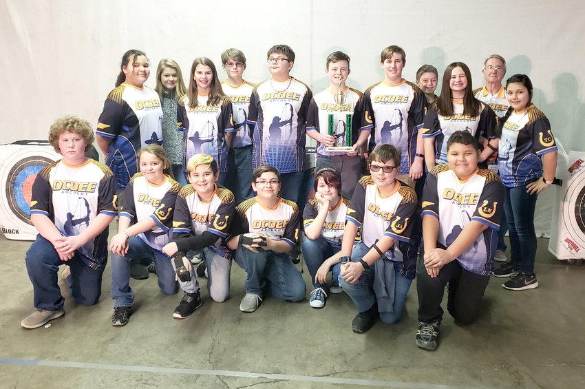 Ocoee Middle School archery team