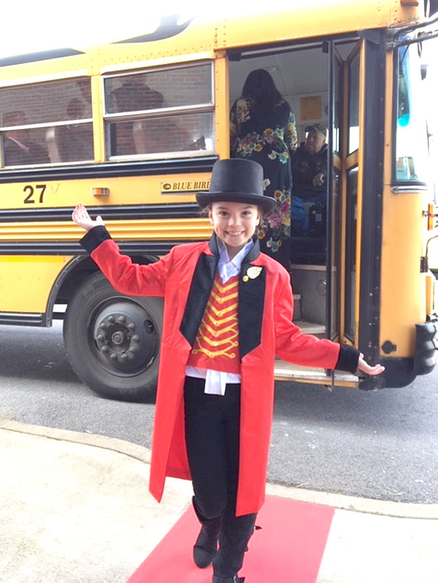Lily Winters provided an entertaining and informative tour for Black Fox Elementary guests at the school's recent Community Showcase.