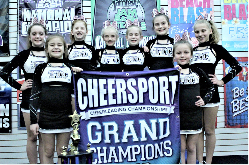 Team Genesis, the first all-star competition team for Tennessee Tumbling & Cheer, recently was named first place and grand champions at the Cheersport All Star Cheer Competition in Knoxville. Team members include, back,  Camryn Rainey, Chloe Flowers, Skye Walker, Kensley Herrig, Alexa Hice and Niki Dodson; and front, Avery Chastain and Maebey Miller.