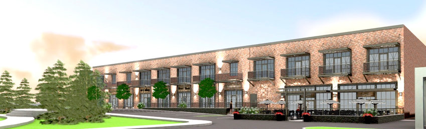 AN ARTIST'S rendering shows the windows and balconies that will be added to the facade of a long-vacant, nondescript warehouse located in downtown Cleveland. The proposed project will convert the structure into a mix of retail, business and residential space. The site is the former Permna Color Inc. facility which has sat empty for almost two decades.