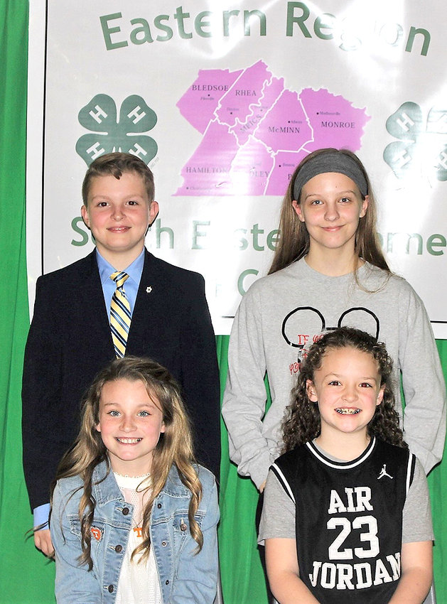 All first-place recipients were invited to represent Polk County in the Eastern Region 4-H Public Speaking Contest which was held March 14 in Rhea County.  Ian King placed second regional competition and Kalee Rogers placed third.  Also eligible to compete were Kloie Ballew, Riley Akens and Kristina Kempler.