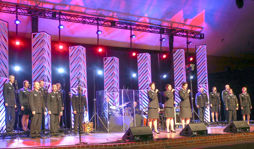 """THE U.S. NAVY BAND Sea Chanters performed a wide cross section of music on Wednesday night, featuring popular music from the 1950s, '60s and '70s to world music like """"Malaguena"""" and cinematic scores."""
