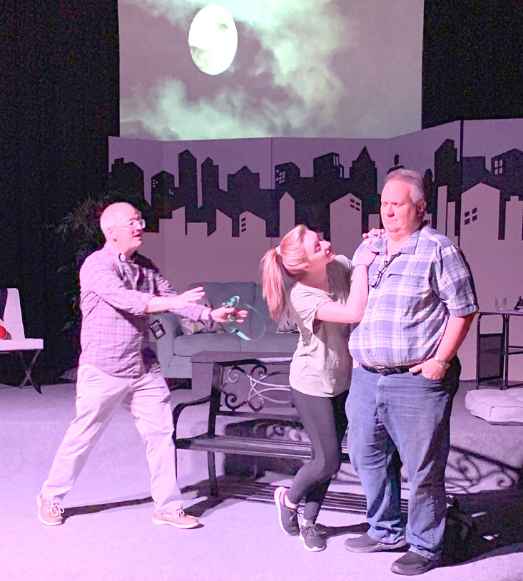 """Ocoee Theatre brings """"Sylvia"""" to the stage with Trevis Orr, Kasey Torbett and Jeff Guentensberger performing Saturday, 7:30 p.m., and Sunday, 2:30 p.m., at the Venue Creekside. """"Sylvia,"""" by A.R. Gurney takes place in New York, where a burned-out executive finds a lovable dog in the park and decides to bring her home to his apartment. His furry friend is just what's needed to help him escape from the misery of his job burnout. However, his wife, who is still busy pursuing her own career, doesn't feel the same affection for the canine and isn't ready to roll out the welcome mat. Tickets are $15; and for seniors and students, $12. Tickets can be purchased on Facebook – www. ocoeetheatreguild.com – or at The Venue Creekside one hour before each performance."""