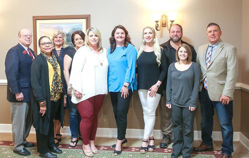MEMBERS of the Keep America Beautiful board of directors, from left are Jim Davis, Kay Cox, Sharon Marr, Missy Harrison, Amanda Peels, Lisa Mantooth, Caryn Bledsoe, Tony Dietz, Brooklyn Sewell and Tim Mason.