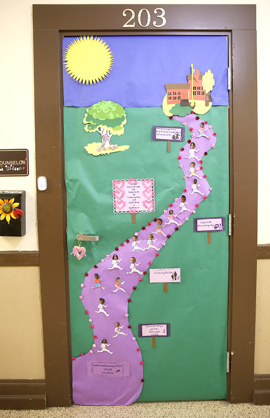 ARNOLD ELEMENTARY HELD a door decoration contest in conjunction with their Great Strides fundraising, and Ms. Wilson's door was one of the winning doors.