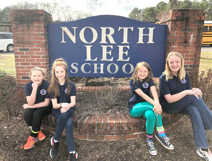On April 12 and 13, five North Lee Elementary students will travel to Nashville to perform in the prestigious Tennessee Treble Honor Choir. More than 400 students in fifth and sixth grade from all across the state auditioned in the fall; the chosen 150 will gather this weekend to present their concert. The North Lee students are, from left, Paige Featherngill, Sydney Creekmore, Alexis Wade, EmmaKate Maynor, and (inset) Mia Gibson.