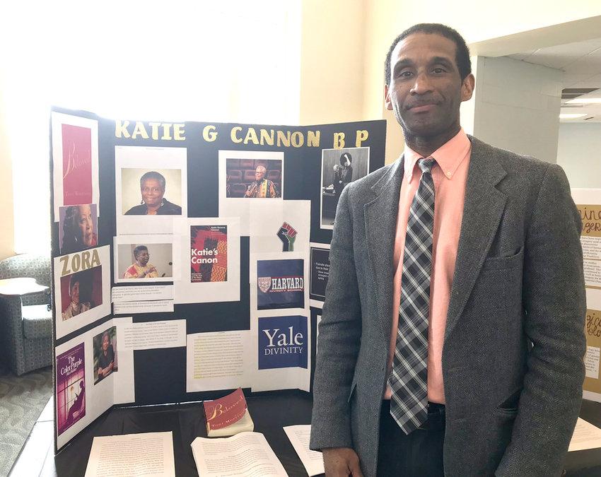 "Franco Crosby's presentation was ""Katie Cannon: Redefined Epistemological Methods Through Womanist Hermeneutics."""