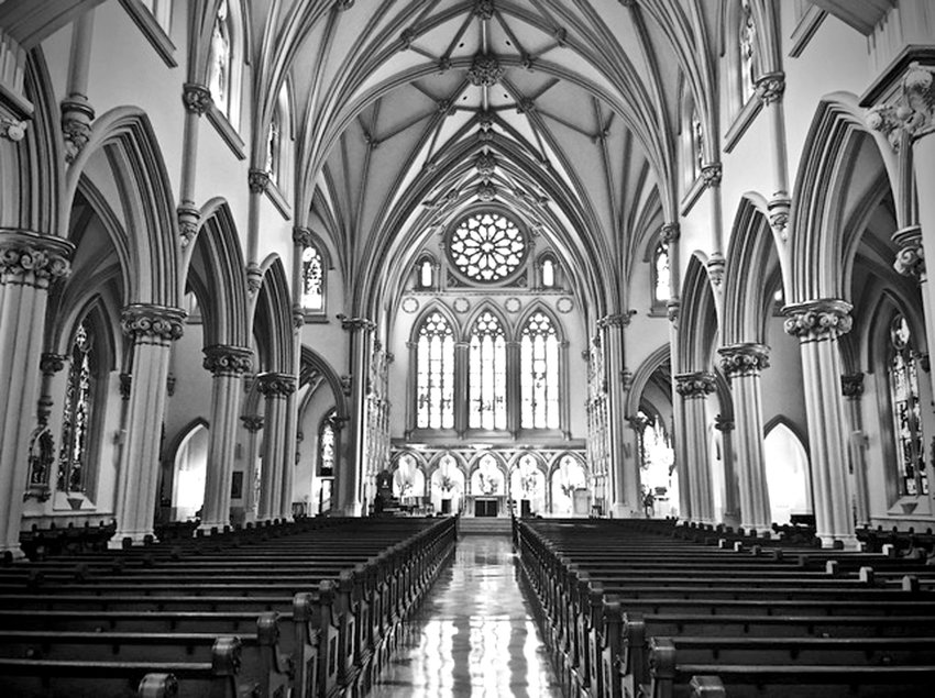 """Best of Show – Print Division: """"The Cathedral """" by Keoni Varlack, home-schooled"""