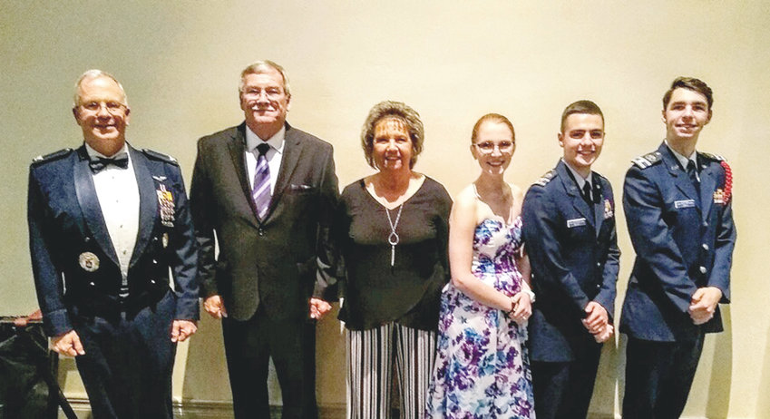AMONG THOSE attending the Tennessee Wing Conference were Col. Barry Melton, Southeast Region commander; Lt. Col. Randy Stripling; 2nd Lt. Debbie Jones; C/1st. Lt. Breanna Melton; C/Lt. Col. Nathaniel Wilkie; and C/2nd Lt. Trent Jones.