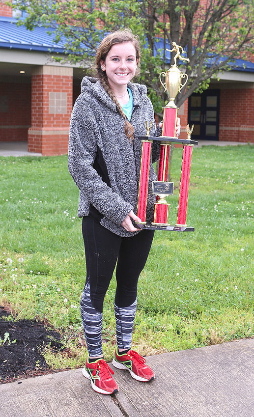 MADISON GUIDER was the Overall Female winner in the Westside Ruritan 5K race at Walker Valley High School Saturday with a finishing time of 21:53.