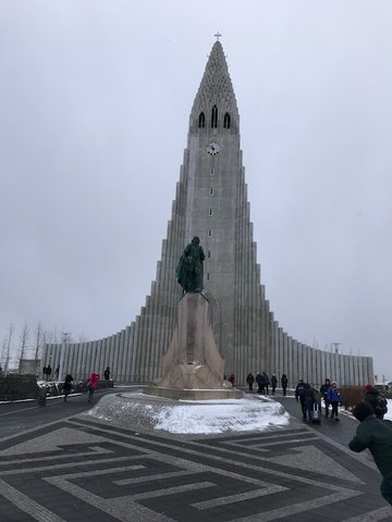 Hallgrimskirkja Church in Reykjavik, Iceland.