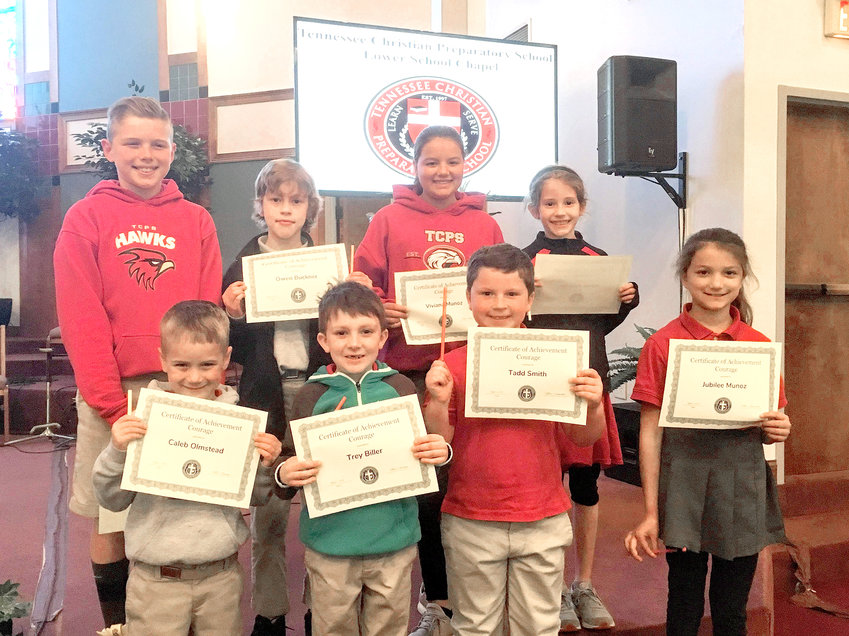 Winners, front row from left, are Caleb Olmstead, Trey Biller, Tadd Smith and Jubilee Munoz. In back are Brayden Beavers, Owen Buckner, Viviana Munoz and Alyssa Buckner.