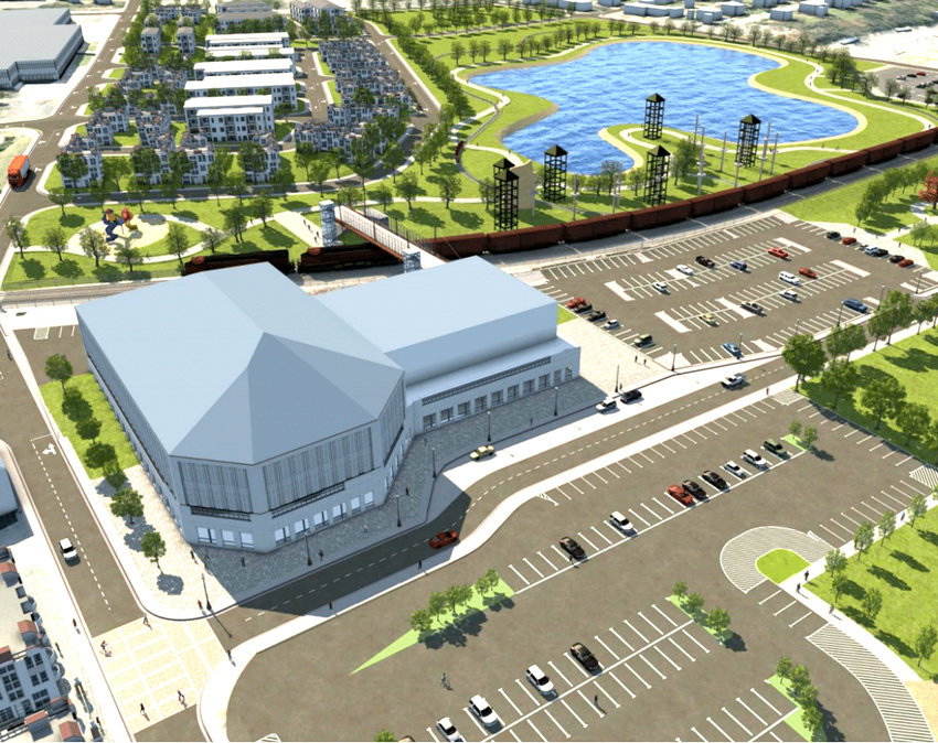 A LARGE SPORTS COMPLEX is one of several proposals included within the city's recently unveiled Downtown Revitalization Master Plan.