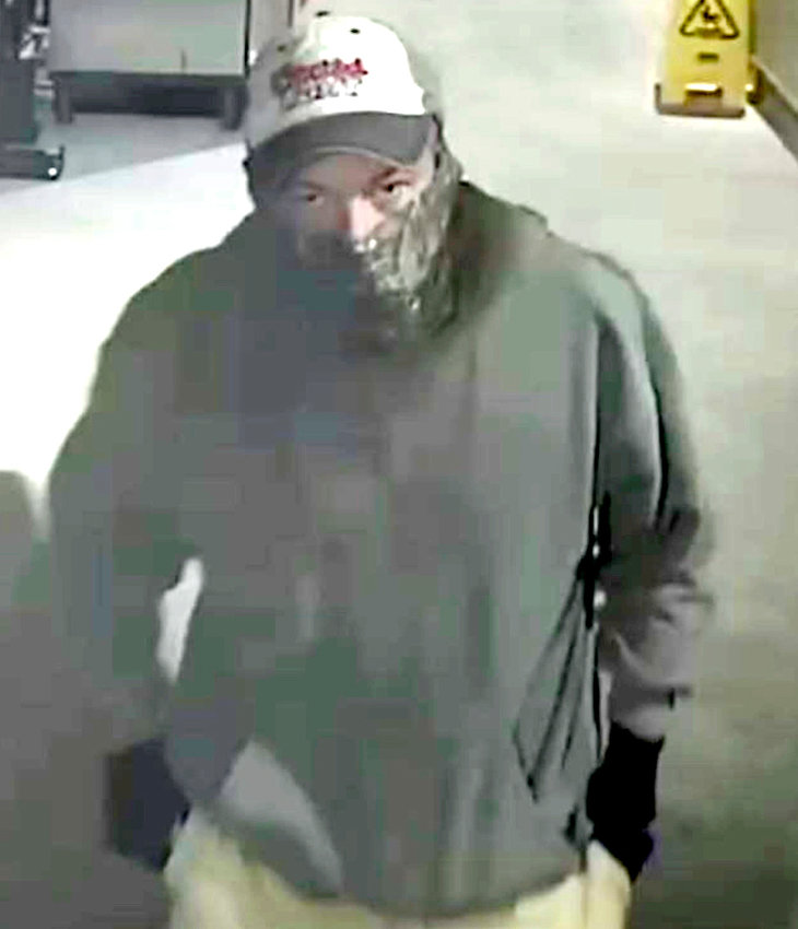 The Cleveland Police Department is seeking a white male who is a suspect in several vending machine thefts in Cleveland. Anyone who can identify him is encouraged to leave a confidential tip through the CPD's Facebook inbox or contact Detective Stephen Warner at 423-303-3134.